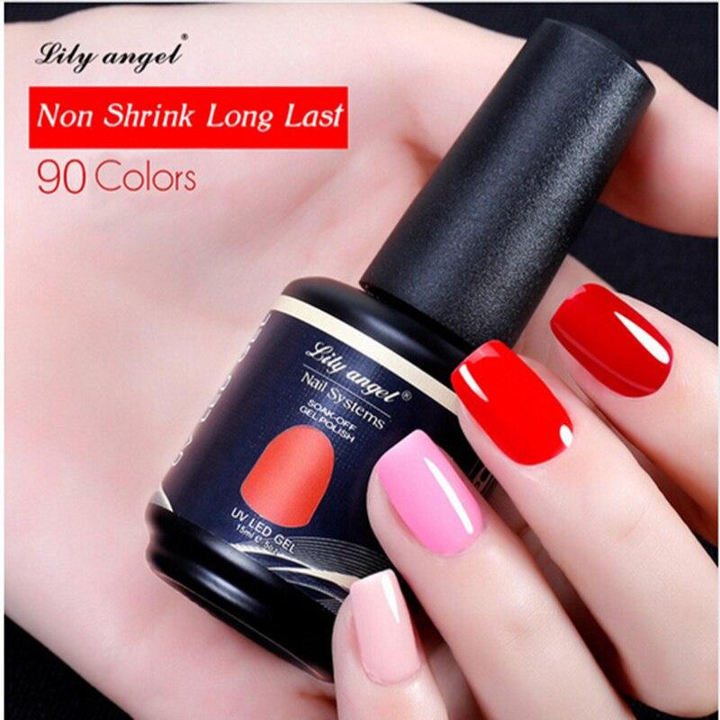 Lily angel 15ml 90 Colores magníficos disponibles Lámpara UV Soak - Arte de uñas - foto 2