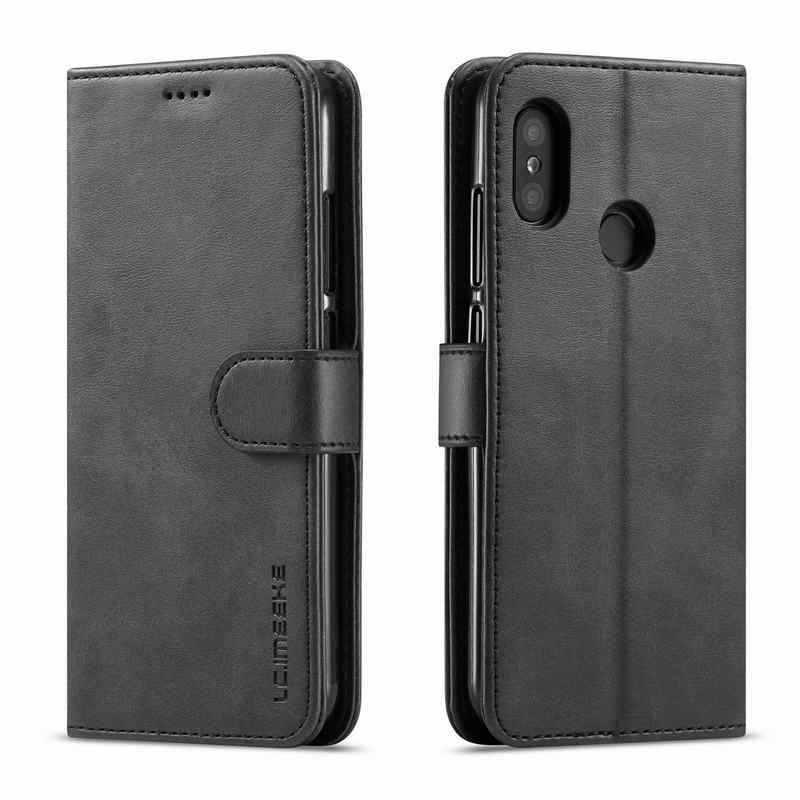 Dành Cho Xiaomi Redmi Note 7 Ốp Lưng Flip Wallet Vintage Từ Bao Da Redmi Note5A Note6 Pro 4X A2 6A Ốp Lưng Da sang Trọng Sách Vỏ