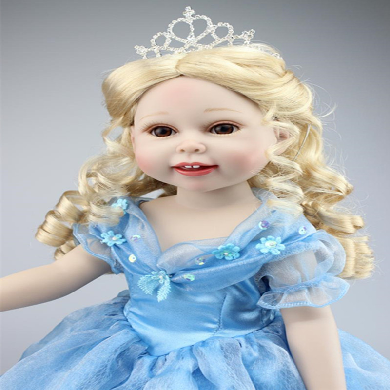 "Фотография  18""  American girl doll elsa princess doll dress up doll girl gift"