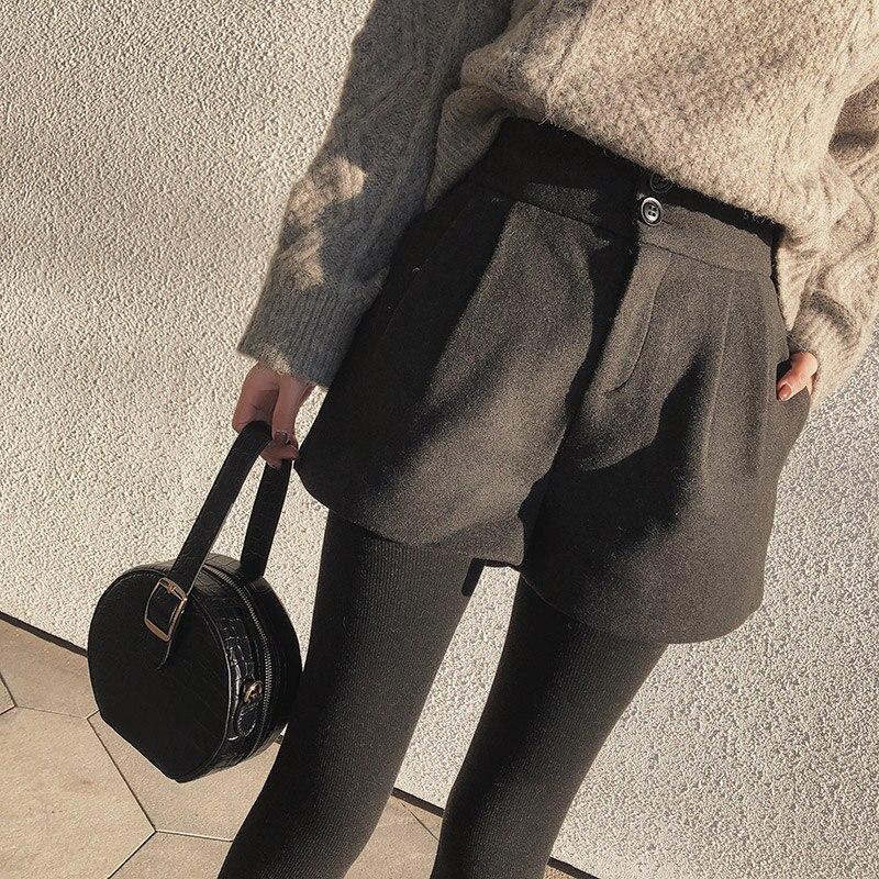 Mishow 2018 New Autumn hot Fashion Women   Shorts   High Waist Casual Women   Short   Pants Wide leg pants MX18D2453