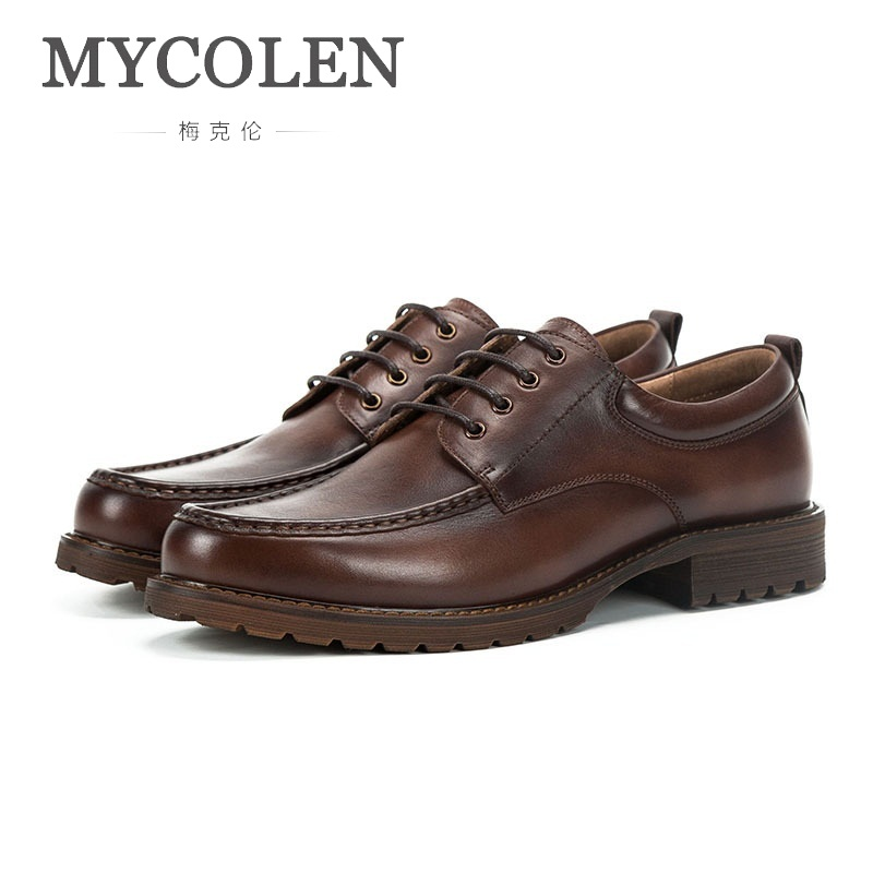 MYCOLEN Original Brand Male British Casual Shoes England New Retro Hand-Painted Leather Shoes Low To Help Dress Shoes MenMYCOLEN Original Brand Male British Casual Shoes England New Retro Hand-Painted Leather Shoes Low To Help Dress Shoes Men
