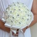 2017 Невесты Свадебный Букет Дешевые Кот Свадебные Цветы Свадебные Букеты Искусственные Свадебный Букет Розы buque де noiva