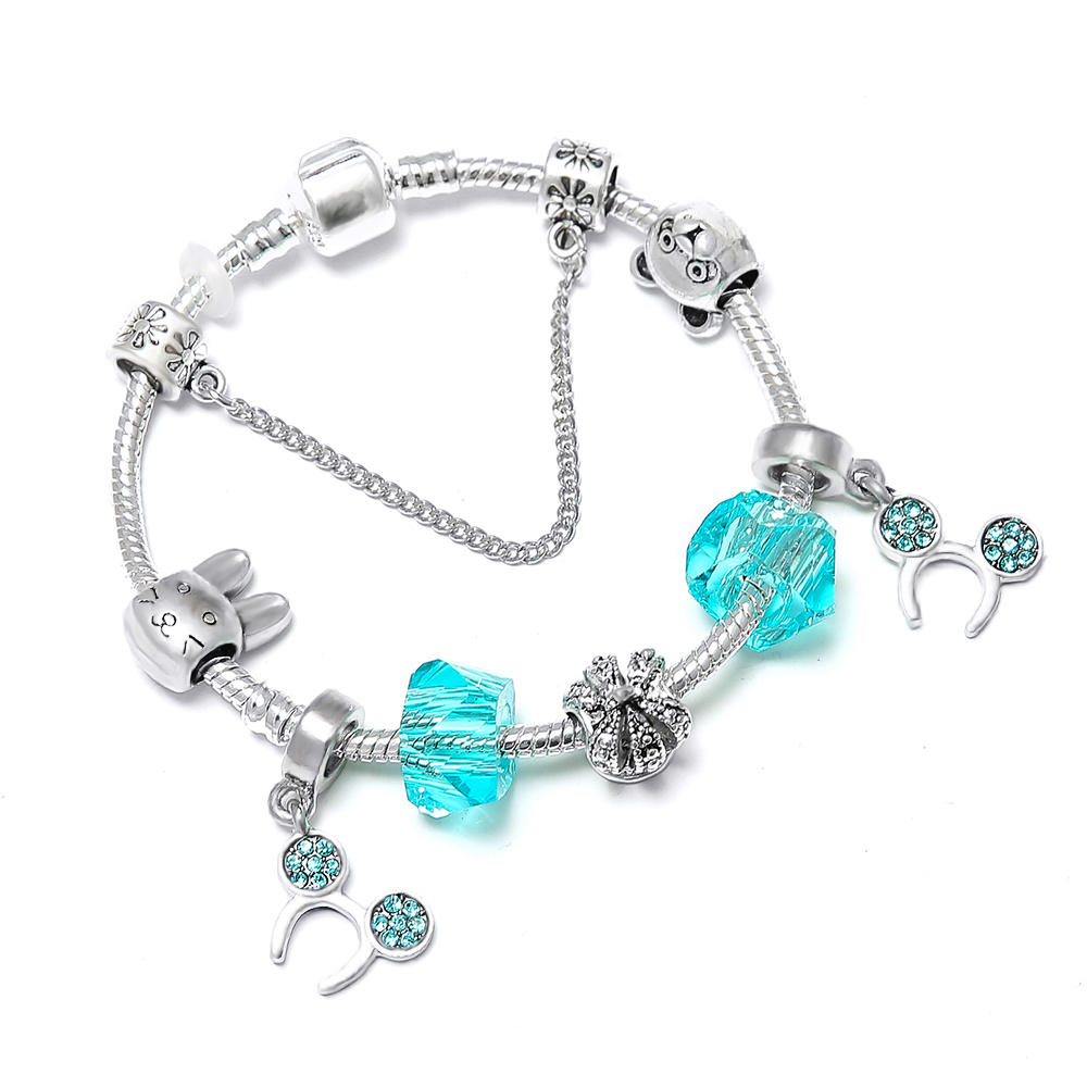 33af072e6 HOMOD 2019 Hot Sale Fashion Handmade Mickey Minnie Charm Bracelets Fits  Brand Bracelet For Women DIY Jewelry Dropshipping