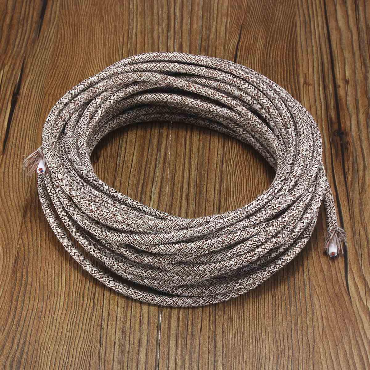 Top Qualität 10 mt 2 Kabel 0,75 cm Multicolor Vintage Twist Geflochtene Stoff Licht Kabel Retro Elektrische Draht Anhänger Lampe draht