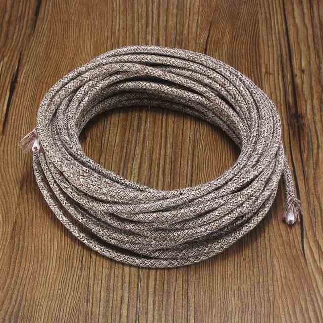Top Quality 10m 2 Cord 0 75cm Multicolor Vintage Twist Braided Fabric Light Cable Retro Electric Wire Pendant Lamp