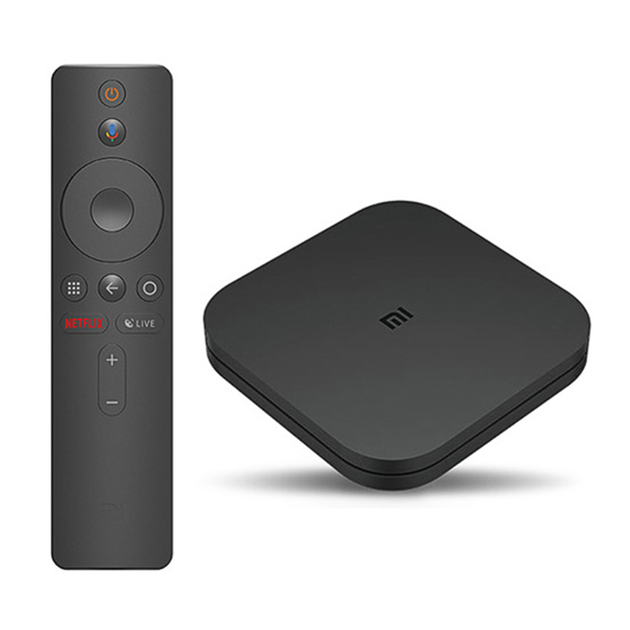 Global Original Xiaomi Mi Box S 4K HDR Android TV 8 1 Ultra HD 2G 8G WIFI  Google Cast Netflix IPTV Set Top Mi Box 4 Media Player
