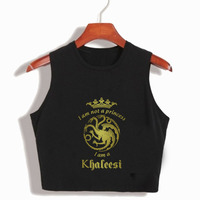I M Not A Princess I M A Khaleesi Womens Summer Crop Tops Game Of Thrones