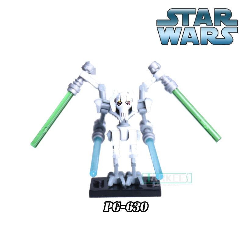 Star Wars 7 Figures General Grievous With Lightsaber Building Blocks The Force Awakens Assemble Brick For Kids Gift Toys PG630