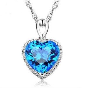 Image 4 - Coração ruby colar de prata esterlina s925, pingente vintage, joia fina para casamento e noivado