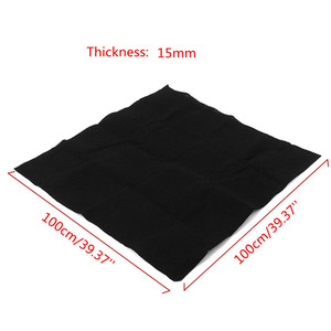 Image 2 - 1m x 1m Thickness 10mm/15mm Home Fabric Black Air Conditioner Activated Carbon HEPA Air Purifiers Accessories Purifier Filter