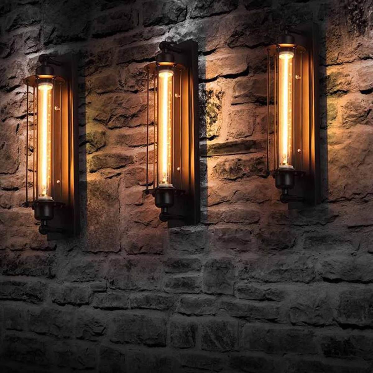 Modern Corridor Vintage Retro Industrial E27 LED Wall Light Ceiling Wall Lamp Led W-filament Indoor LED Light Lamp 110-220V 2w 120lm red blue led wall lamp 110 220v