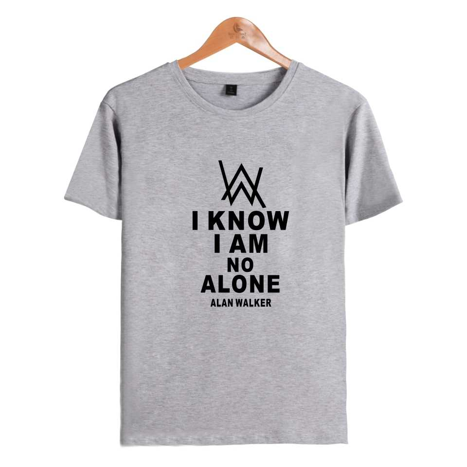 3fe6dd868 summer Alan Walker T-shirts print fashion hip hop couple men women t shirt  casual
