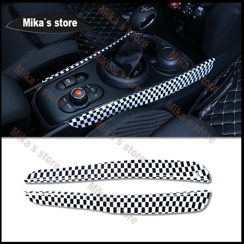 Купить с кэшбэком ABS for BMW Mini Cooper F54 F60 Clubmen Countrymen Gear Panel Automatic Gearbox Decoration Covers Car Styling Decoration Panel