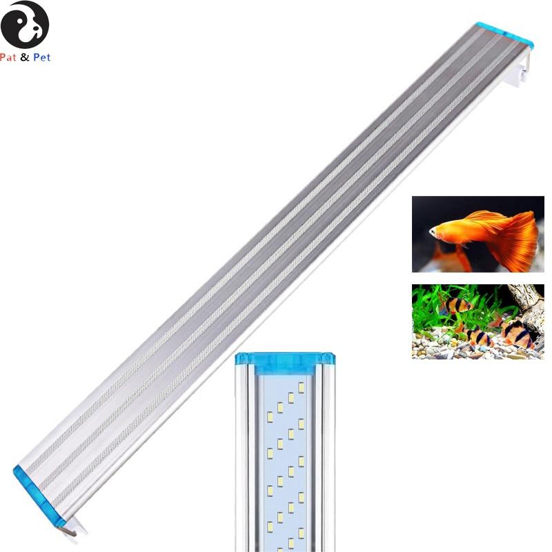 LED Aquarium Light, White Super Bright Fish Tank Aquarium LED Strip Light Waterproof Aluminum Lighting For Quarium, Fish Tank