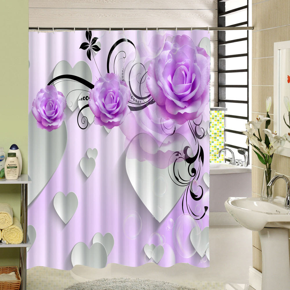 Beautiful Purple Flower Shower Curtain