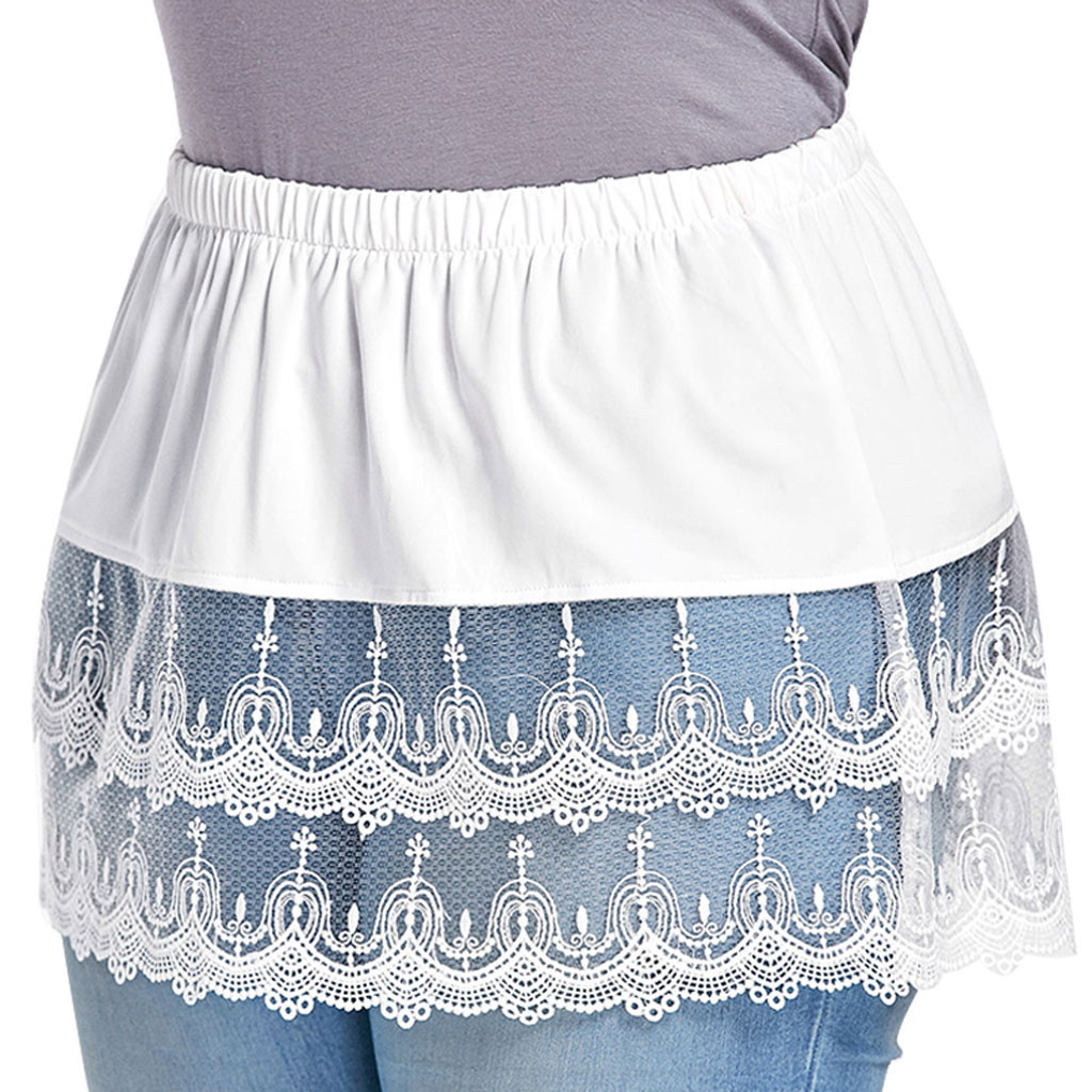 Women's Layered Layered Lace Trim Side Extension Pants Party Daily Entertainment Family Half Body Beach Large Size Skirt#595