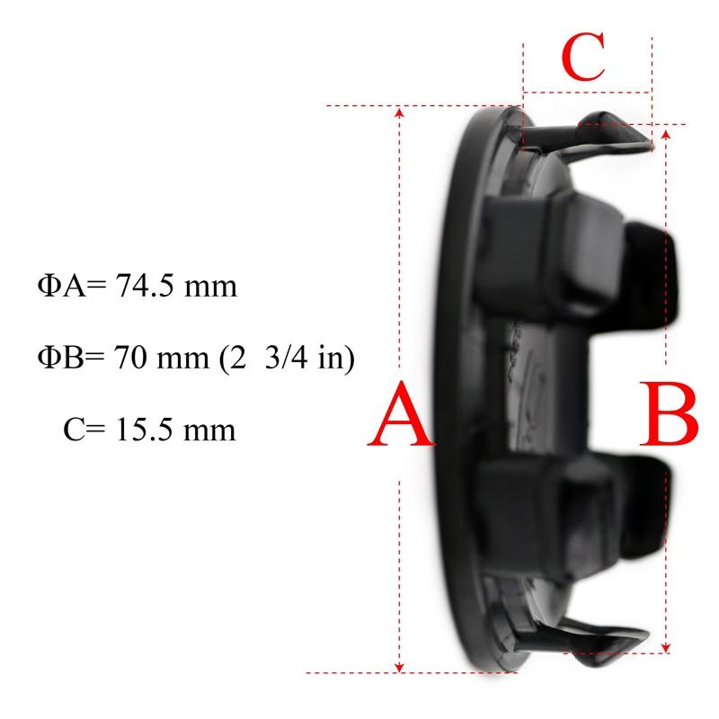 roda de 75mm, 4 unidades, preto, hub,
