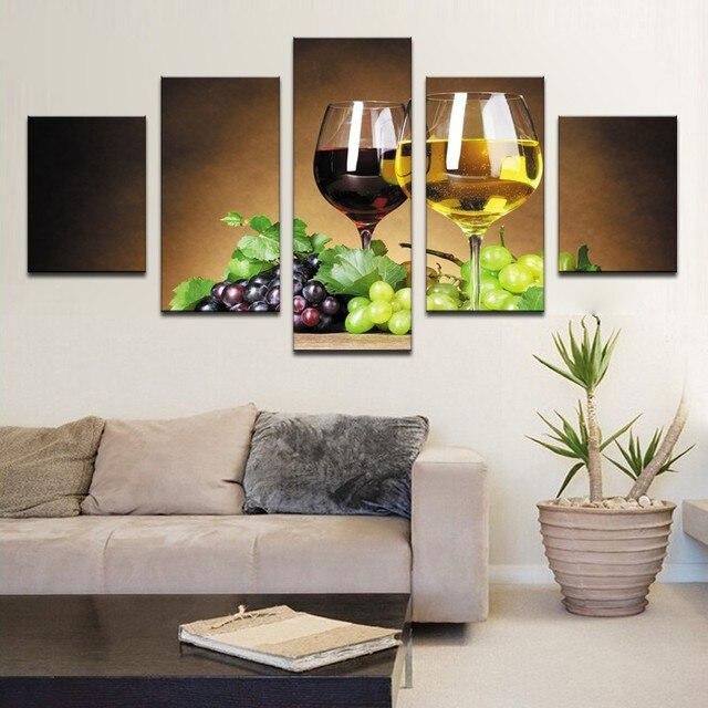 5 Vidrio enmarcado Arte Impresiones de la Lona Impresiones Imagen ...