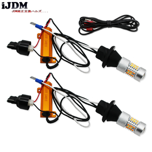 Image 4 - IJDMสูงT20 7440 LED 28 SMD 3030 ไฟวิ่งกลางวัน/ไฟเลี้ยวสัญญาณไฟชุดสำหรับ 2015 Up Ford Mustang