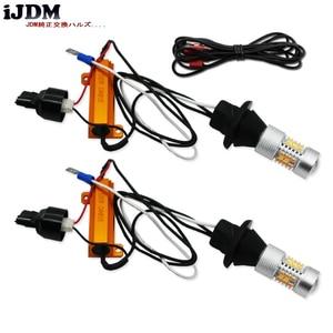 Image 4 - IjdmハイパワーT20 7440 led 28 SMD 3030 ledデイタイムランニングライト/ターン信号が点灯変換キットのための 2015 アップフォードマスタング