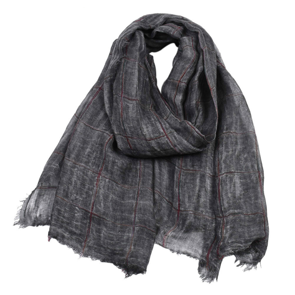 Colorful Men's Casual Scarf Autumn And Winter Men's Long Twill Cotton Warm Color Woven Cotton Scarf