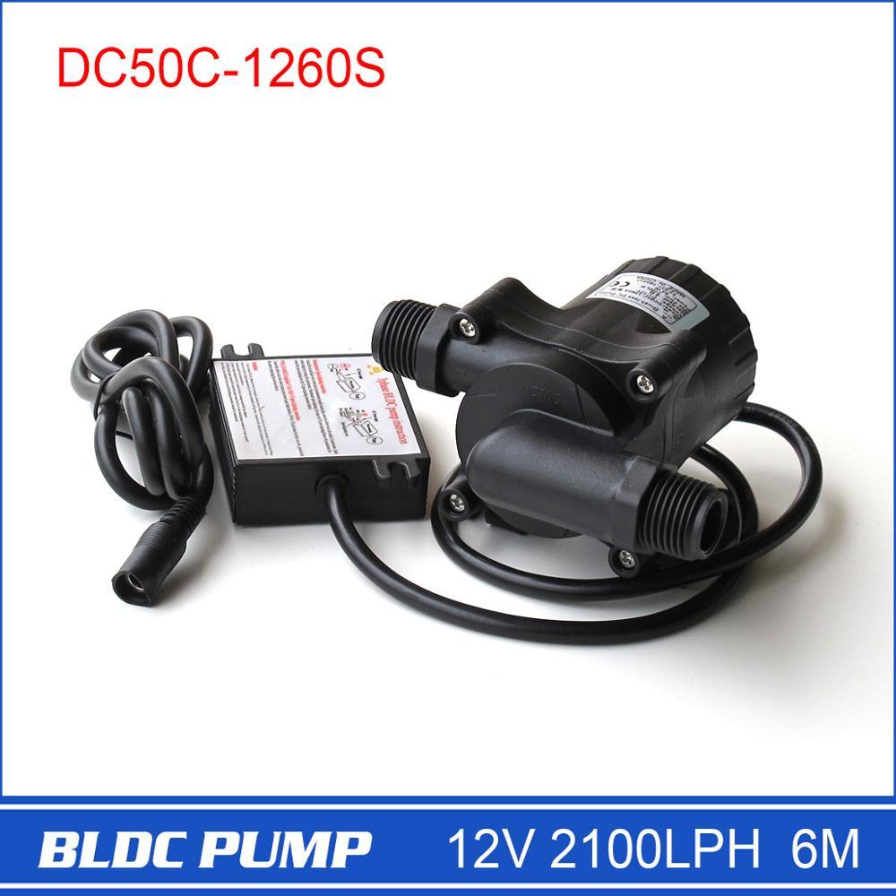 12 вольт DC водяной насос DC50C-1260S 2100LPH 6 м Мини Centrifal погружной Прямая продажа с фабрики