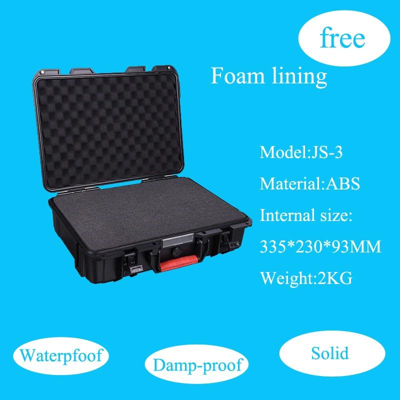 Случае Инструмент Toolbox чемодан ударопрочный герметичный водонепроницаемый безопасности ABS случае 335*230*93 мм чехол с нарезанные пены внутри