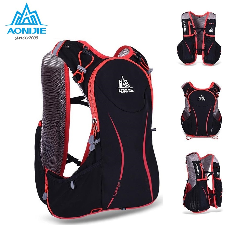 AONIJIE Hydration Backpack 5L Outdoors Mochilas Trail Running Backpack Hydration Vest Pack For 1.5L Water Bag Cycling Hiking Bag