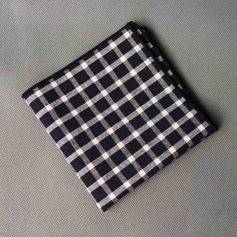 Mantieqingway Fashion Casual Plaid & Striped Handkerchief Men Formal Wear Business Suit Pocket Square Handkerchiefs Cotton Hanky