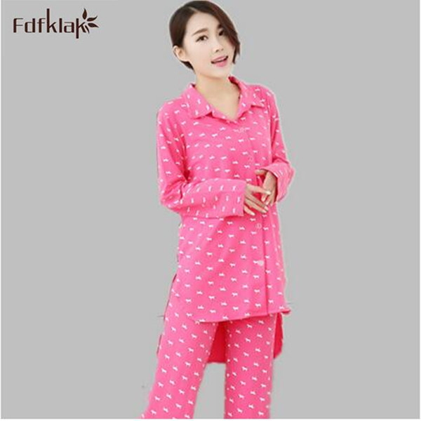High Quality autumn winter pajamas set long sleeve pyjama femme 2018 new lovely tracksuit for women pijamas de invierno A138