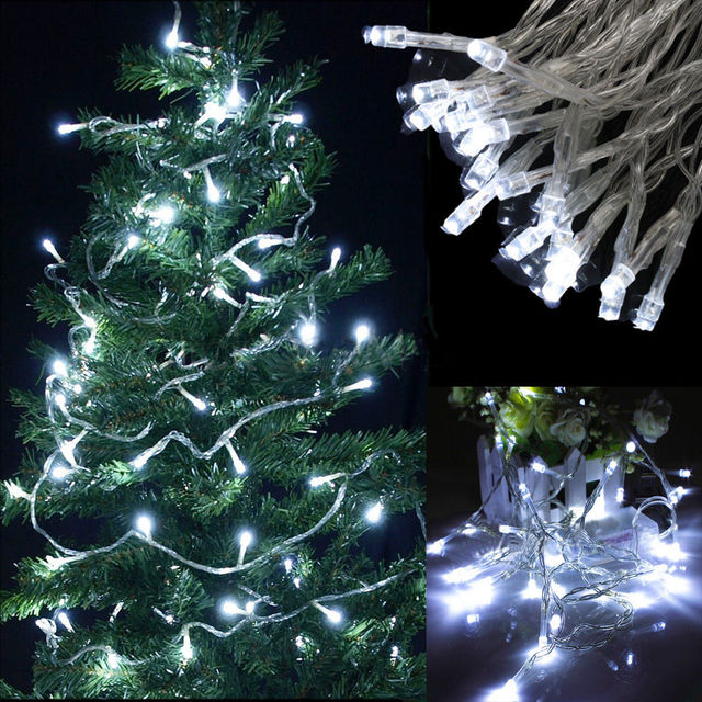 purchase cheap 3f2eb 8d044 US $7.98 |30 LED String Fairy Lights Xmas Battery Powered Static/Flashing  Bright White-in LED String from Lights & Lighting on Aliexpress.com | ...