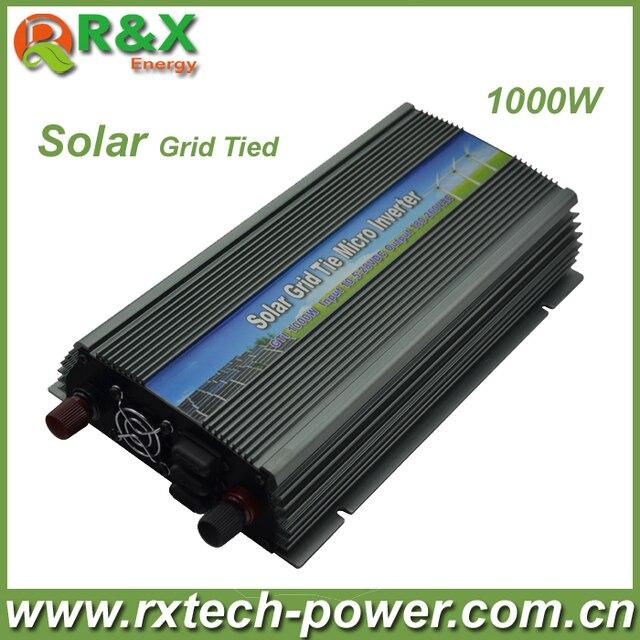 Grid-Tie 1000W Pure Sine Wave Inverter, DC10.5V~28V, AC 90V-140V/180V~260V,50Hz or 60Hz, for Input PV Power 1200W,Free shipping