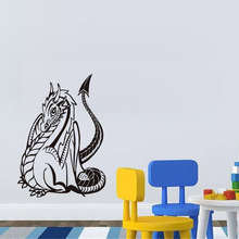 Sitting Dragon Vinyl Wall Sticker For Home Decor Creative Art Mural Decals Removable Loong Decal