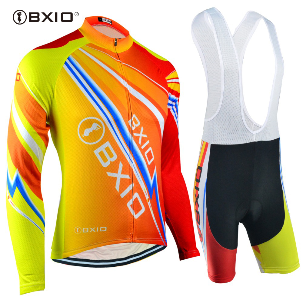 EU Brand BXIO Cycling Jerseys Autumn Long Sleeves Ropa 5D Gel Pad Bicycle Clothing Pro Team Bike Clothes Maillot Ciclismo 100 new team teleyi cycling jerseys 2017 short sleeves summer breathable cycling clothing pro mtb bike jerseys ropa ciclismo