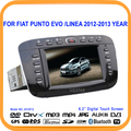 Car Stereo DVD Radio Player GPS Bluetooth 6.2'' Touch Screen TF/USB Slots For Fiat punto evo /Linea 2012 2013