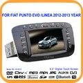 Estéreo del coche reproductor de radio dvd gps bluetooth de pantalla táctil de 6.2 ''tf/usb ranuras para fiat punto evo/linea 2012 2013