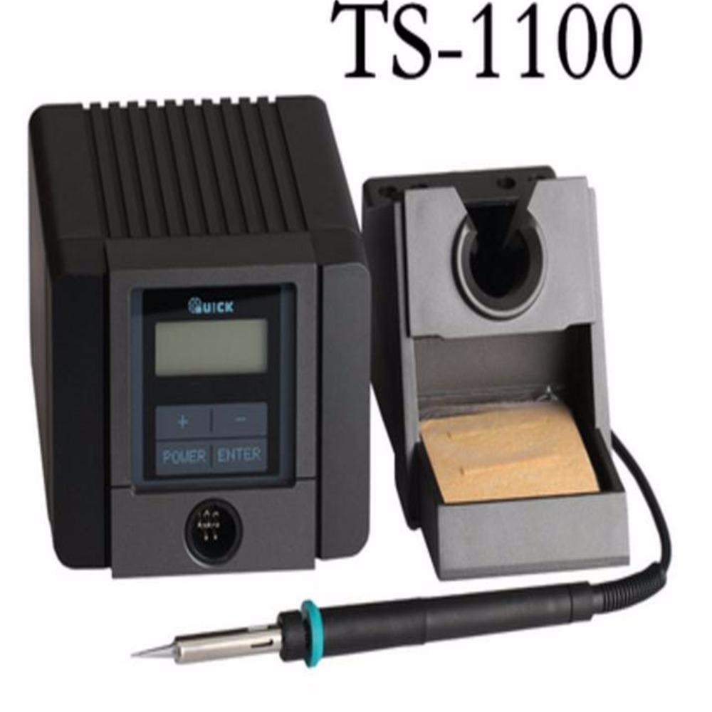 QUICK TS1100,Anti-static smart lead-free soldering station,Constant temperature adjustable welding iron table,LCD screen 90W цена