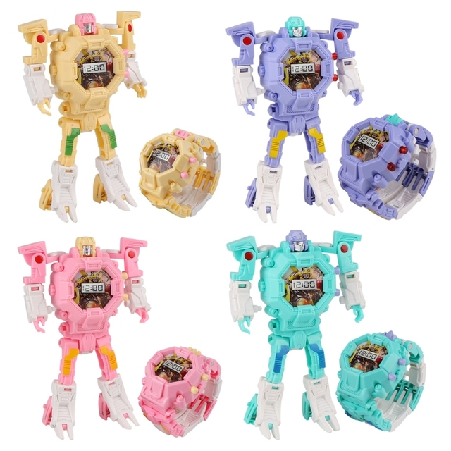 Robot changable for watch toy kid manual transformation robot toys.