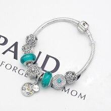 wholesale DIY jewelry charm Bracelet green Murano Glass charm Bracelet