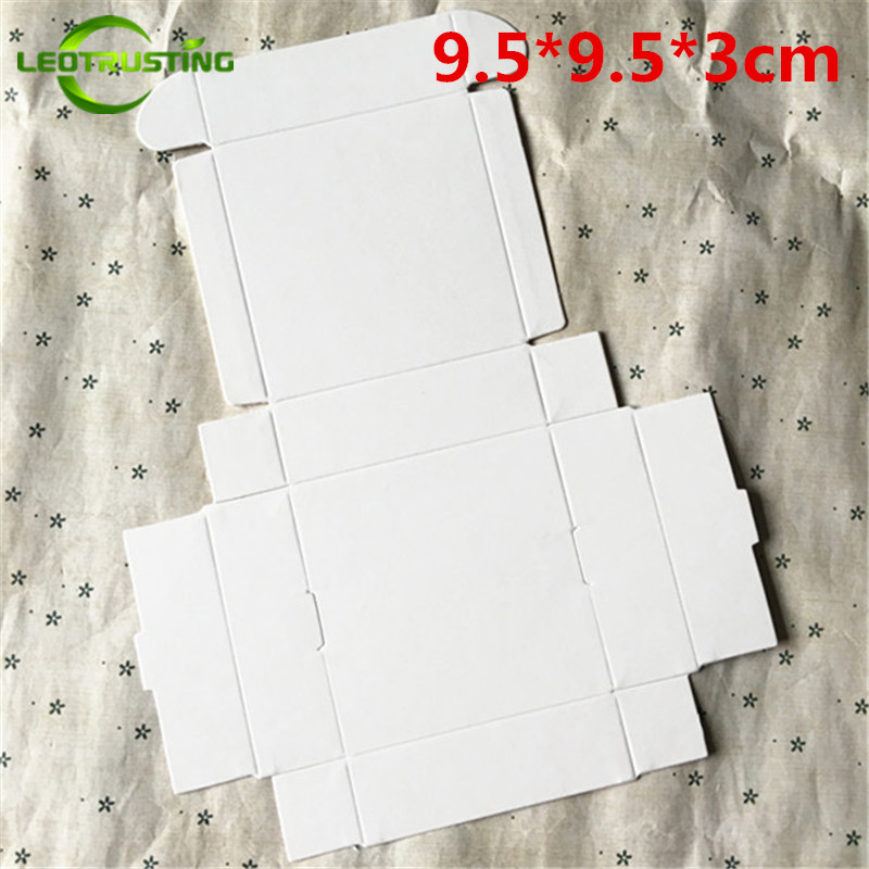 Latest Collection Of Leotrusting 50pcs 9.5*9.5*3cm Blank White Paper Box White Cardboard Paper Gift Packaging Box Handmade Party Wedding Paper Box Sufficient Supply Home & Garden Gift Bags & Wrapping Supplies