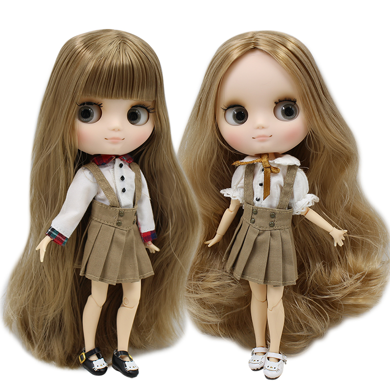 ICY Nude Factory Middie Blyth doll Series No Brown hair with bangs Matte face Neo