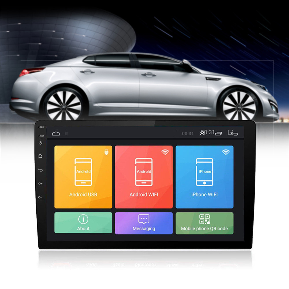 """Discount Android 8.1 2 Din Car Stereo Radio 10.1"""" GPS Wifi Touch Screen MP5 Player Support Rear View Camera Android Car Radio 1"""