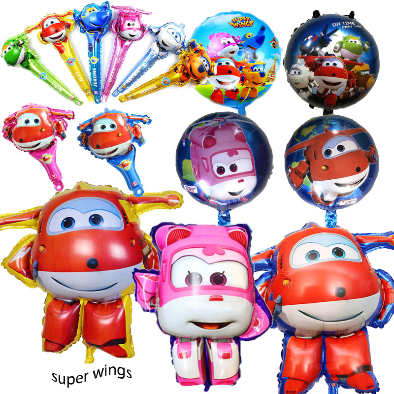 15 styles Super Wings Balloon Jett balloons 18 inch Super Wings toys Birthday Party Decorations kids toys Jett globos supplies
