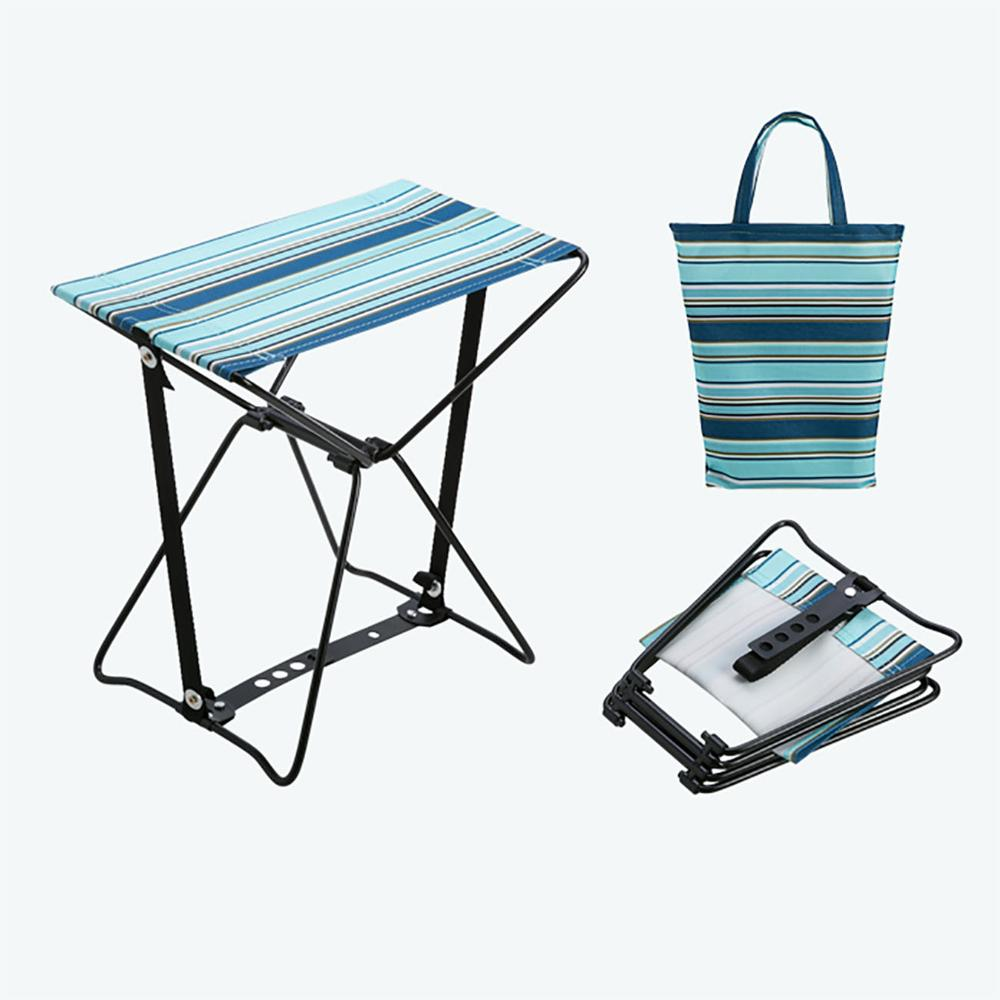 Outdoor Folding Camping Chair Simple Folding Mini Stool Camping Fishing Train Bench Portable Beach Chair With 1 Free Storage Bag