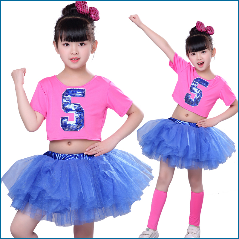 Girl Jazz Dance For Girls Ballet Dress For Children Girl Dance Stage Clothing Kids Performance Girl Hip Hop Jazz Costumes