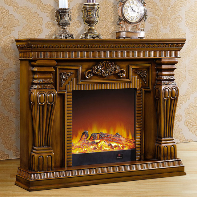 1.5 m high-end European-style fireplace wood carving decorative garden antique  American furniture - 1.5 M High End European Style Fireplace Wood Carving Decorative