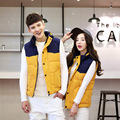 2016 New Autumn And Winter Coat Cotton Vest Male Korean Couple Thickened Women Feather Free Shipping Y1124-70F
