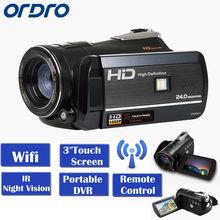 "Free shipping!ORDRO Protable Mini DV HDV-D395 Full HD 1080P 18X 3.0""Touch Screen Digital Video Camera Recorder"