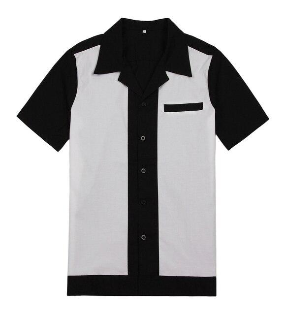 c9263f732 € 24.21 |Venta al por mayor ropa de fiesta camisa de hombre diseño vintage  camisa rockabilly talla grande Reino Unido camisas casuales para hombres ...