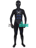 ZentaiHero 2017 Black Raimi Spiderman Costume 3D Printed Cosplay Zentai Suit Black Super Spider Man Coser Costume Custom Made